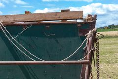 rope knot on a trailer harvesting royalty free stock photo