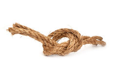 Rope with knot. On white background Royalty Free Stock Photography