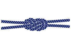 Rope knot on a white background Royalty Free Stock Images