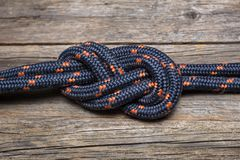 Rope with knot Royalty Free Stock Photos