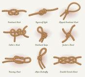 Rope Knots Set Stock Photos