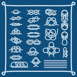Rope knots vector illustration. Stock Photos