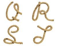 Rope la letra de formación A, B, C, D foto de archivo libre de regalías