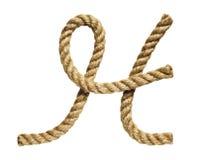 Rope la letra de formación H Imagen de archivo