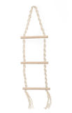 Rope ladder. Isolated on white Stock Images