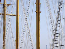 Rope ladders and masts Stock Photos