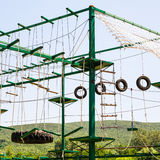 Rope-ladders in outdoor obstacle course Royalty Free Stock Photo