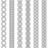 Rope le câble tissant, tresse tordue par noeud, crochet de macramé tissant, noeud de tresse, vecteur tricoté tressé Photographie stock