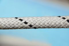 Rope Lifeline Close-up. Background and Texture for text or image Royalty Free Stock Images