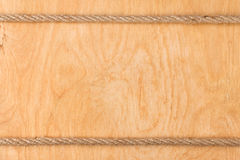Rope on  light wooden background Stock Photos