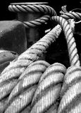 Rope. Line  anchor  black white  background Royalty Free Stock Photos