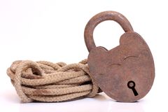 Rope and lock Stock Images