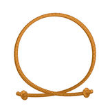 Rope loop frame. Rope rope circle with sites Royalty Free Stock Images
