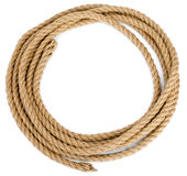 Rope loop isolated on white background. Closeup Stock Photos