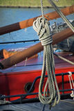 Rope loop on an old sailboat Royalty Free Stock Photography