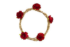 Rope loop with red rose Royalty Free Stock Image
