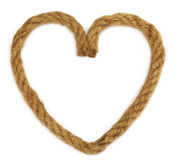 Rope making a heart shape Royalty Free Stock Photos