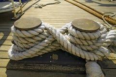 Rope at marina Stock Image