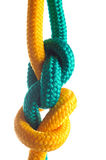 Rope with marine knot Stock Image