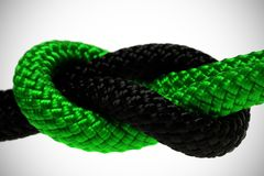 Rope with marine knot Royalty Free Stock Image