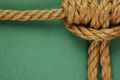 Rope with marine knot Royalty Free Stock Images