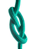 Rope with marine knot on white background Stock Photography