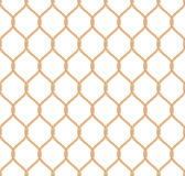 Rope marine net pattern. Seamless vector on white background Royalty Free Stock Images