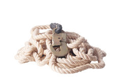 Rope with metal hook Royalty Free Stock Photography