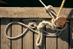 Rope for mooring Royalty Free Stock Image