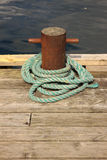 Rope for mooring a boat Royalty Free Stock Images