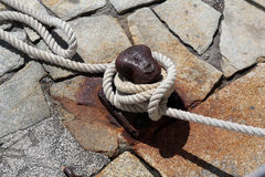 Rope mooring. Portofino in Liguria, Italy Royalty Free Stock Image
