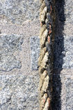 Rope for mooring ships Royalty Free Stock Photography