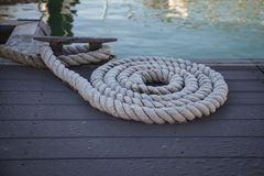 Rope on the mooring Stock Photos