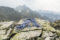Rope in the mountains Royalty Free Stock Images