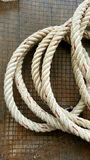 Rope on nest wire, retro style Royalty Free Stock Image