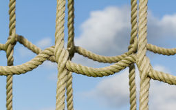 Rope net used for children climbing Stock Photo