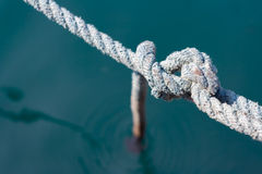 Rope node blue line water integrity Royalty Free Stock Images