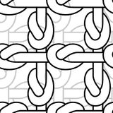Rope node pattern. Bonded twine ornament.  Textile texture Royalty Free Stock Photos