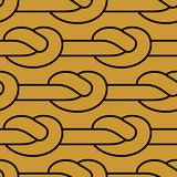 Rope node pattern. Bonded twine ornament.  Textile texture Royalty Free Stock Images