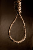 Rope in a noose against brown. Rope in a noose against a textured brown background Stock Photos