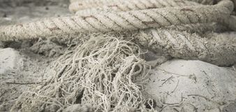 Rope not sand royalty free stock images
