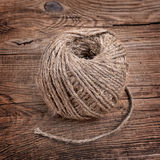 Rope on the old board Royalty Free Stock Photography