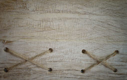 Rope and old wood texture background Stock Photography