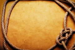Rope On Old Paper Royalty Free Stock Images