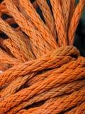 Rope. Orange Rope in closeup detail Royalty Free Stock Photo