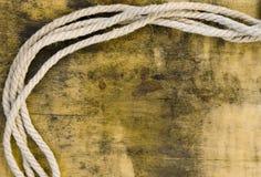 Rope over grunge background Stock Photo