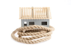 Rope over the house isolated on white Stock Photo