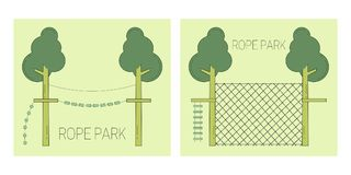 Rope park track vector illustration