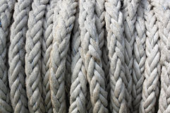 Rope pattern. Closeup thick rope pattern background Stock Images