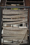 Rope Pattern. Pattern of the ropes winded around structure bars stock images